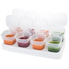 EASY Breastmilk & Baby Food Storage Cups (2oz)- White