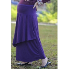 Autumnz - Breezy Maternity Long Skirt *Purple*