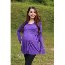 Autumnz - Eliza 2-in-1 Maternity/Nursing Top (Purple)