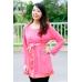 SALE: Autumn Flirty 2-in-1 Maternity/Nursing Tunic (Coral Pink)