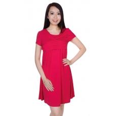 Autumnz - Georgina SS 2-in-1 Maternity/Nursing Dress (Rose)