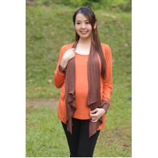 Autumnz - Janelle 2-in-1 Maternity/NursingTop(Pumpkin/Brown)