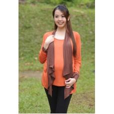 (Clerance) Autumnz - Janelle 2-in-1 Maternity/NursingTop(Pumpkin/Brown)