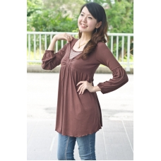 (Clerance) AUTUMNZ - Riviera Long Sleeve Tunic (Chesnut)