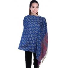 Autumnz Nursing Wrap - Frangipani (Deep Blue)