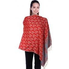 Autumnz Nursing Wrap - Frangipani (Red)