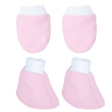 Autumnz - Mitten And Bootie Set (Pink)