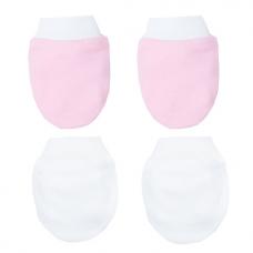Autumnz -2 Pack Mittens (Pink White)